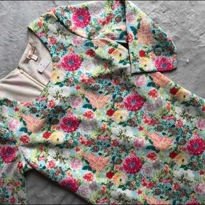 NWT Under Skies Floral Pink Shift Dress Feminine
